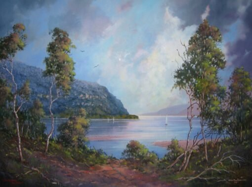 morpeth art gallery, hunter valley, newcastle, nsw, investment art, fine art, original, artwork, collector, investment, artist, oil, board, william freeman, bill, minmi, karuah, landscape, seascape, icon of the hunter, three chooks, calm before the storem, smoth's lake, sir william dobell, society of hunter valley artists