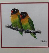 Lovebirds  Triptych