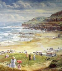 A Day at the Beach Print by John Bradley
