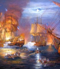 Battle of the Nile by John Bradley Giclee on canvas Small