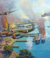 Beaufighter Blitz by John Bradley  Giclee on Canvas