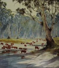 Browns Cows Limited Edition Print by Kevin Best OAM
