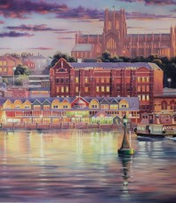 Harbour Lights Print by John Bradley