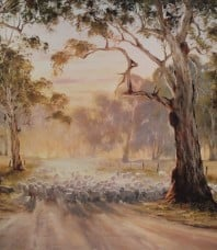 The Long Paddock Limited Edition Print by Kevin Best OAM