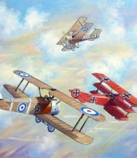 The Red Baron Bugs Out Giclee Reproduction by John Bradley