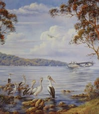 Touch Down Lake Macquarie Print by John Bradley