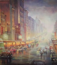 Winter Evening Exodus Limited Edition Giclee on paper by John Bradley