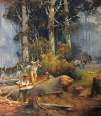 Woodsawyers Limited Edition Print by d'Arcy W. Doyle