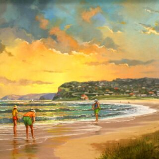 morpeth art gallery, hunter valley, newcastle, nsw, investment art, fine art, original, artwork, collector, investment, artist, oil, board, william freeman, bill, minmi, karuah, landscape, seascape, icon of the hunter, three chooks, afternoon at merewether beach, sir william dobell, society of hunter valley artists