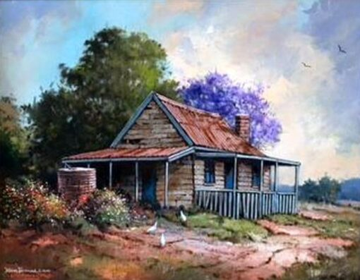 morpeth art gallery, hunter valley, newcastle, nsw, investment art, fine art, original, artwork, collector, investment, artist, oil, board, william freeman, bill, minmi, karuah, landscape, seascape, icon of the hunter, three chooks, gold miners cottage, nundle, sir william dobell, society of hunter valley artists