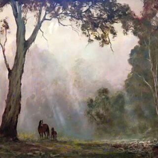 morpeth art gallery, hunter valley, newcastle, nsw, investment art, fine art, original, artwork, collector, investment, artist, oil, landscape, australian bush, sheep, cattle, rays of light, kevin best, still a bit wobbly, stretched canvas, light, outback, high country, muster