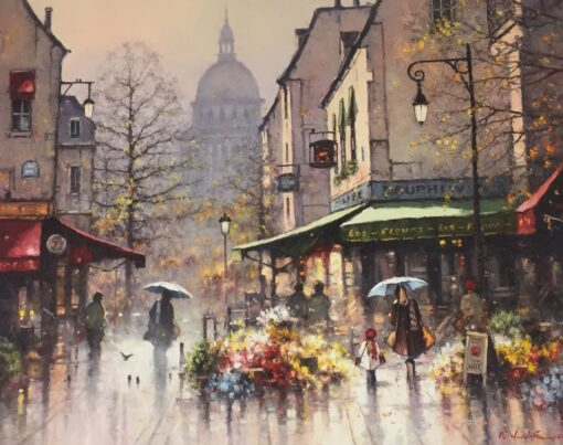 morpeth art gallery, hunter valley, newcastle, nsw, investment art, fine art, original, artwork, collector, flower markets in the latin quarter paris, investment, artist, giclee, reproduction, print