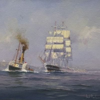morpeth art gallery, hunter valley, newcastle, nsw, investment art, fine art, original, artwork, collector, investment, artist, oil, watercolour, nautical, seascape, hmas cerebus, cerberus, stamp, australia post,barque, james craig, clippers, clipper, tea clipper, tea clippers,sir hubery wilkins. fritz, royal arts society, australian institute of history and art, society of marine artists, cape horn, james baines, ss loongana, ship, gladbrook, patrianc, sophocles, first fleet, port Jackson, leander, taeping, schooner, thermopylae, cutty sark, royal arts society, marine, quiet departure, navy, australian navy, royal, australian art gifts