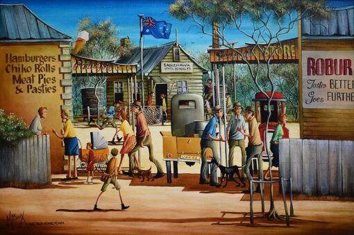 morpeth art gallery, hunter valley, newcastle, nsw, investment art, fine art, original, artwork, collector, investment, artist, oil, watercolour, story teller, australiana, yesteryear, the old days, icon, yarns, australian iconic artist, board, stretched canvas, watercolours, watercolour, cobb and co, bradford exchange, waltzing matilda, gold medallions, gold coins, limited edition, the old home town, retrospective, australian art gifts, nostalgia