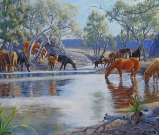 morpeth art gallery, hunter valley, newcastle, nsw, investment art, fine art, original, artwork, collector, investment, master pastellist, military specialist, animals, portraits, equine, military, pastel, watercolour, oil, board, stretched canvas, pastel society of australian, giclee reproductions, calgary stampede, illustrator, horse, horses, great war, great war memorabilia, charge of beersheba, station horese at lilyvale waterhole, soldier on, australian light horse, great war
