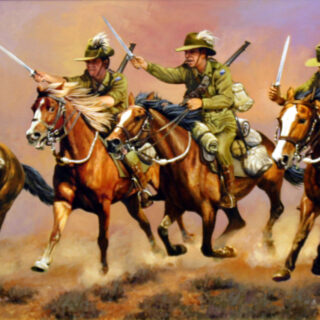 morpeth art gallery, hunter valley, newcastle, nsw, investment art, fine art, original, artwork, collector, investment, artist, military, equine, acrylic, oil, watercolour, board, stretched canvas, australian light horse, military heritage, giclee reproductions, the charge, military, great war,