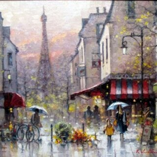 morpeth art gallery, hunter valley, newcastle, nsw, investment art, fine art, original, artwork, collector, investment, artist, oil, board, stretched canvas, new york, paris, begium, linen, london, costwold, sydney, southern highlands, berrima, three colours, romantic, england, europe, european, notre dame, river seine, providence, rue, crocodile hunter,springtime reflection on rue st dominique paris, giclee reproductions, australian art gifts