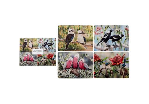Australia Bird & Flora Collection Set 4 Coasters -