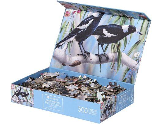Australia Bird & Flora Collection Magpie Jigsaw - 500 piece -