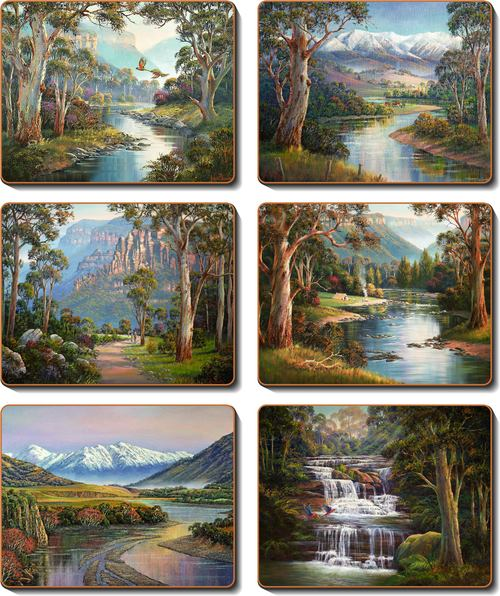 Away from it All Set 6 Coasters -