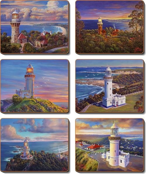 Coastal Icons Coasters Set 6 -