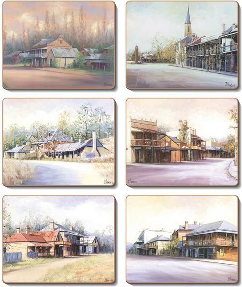 Country Towns Set 6 Placemats -