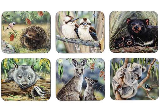 Fauna of Australia Set 6 Coasters -