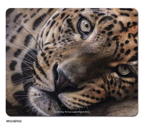 Garry Fleming - The Lazy Leopard Microfibre Mouse Pad -