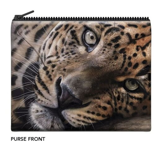 Garry Fleming - The Lazy Leopard Velour Coin Purse -