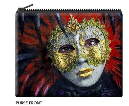 Gordon Hanley - Masquerade Velour Coin Purse -