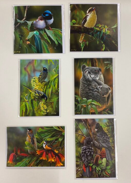 Greeting Cards by James Hough Set 6 -