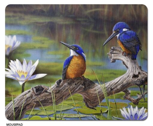 James Hough - Fishing the Backwater Microfibre Mouse Pad -