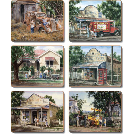 Times Now Past Set 6 Coasters -