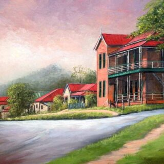 morpeth art gallery, hunter valley, newcastle, nsw, investment, fine, original, artwork, collector, artist, artists, investment, oil, palette knife, pallete knives, knife, gulgong, mudgee, bathrust, sofala, hill end, berrima, southern highlands, braidwood, vineyards, houses, to scale, australian art gifts, in bate street, central tilba, placemats, coasters, cinnamon, hale imports