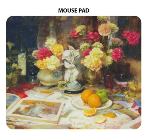 John McCartin - Carnations with Cherub Microfibre Mouse Pad -