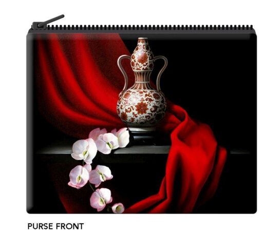 Pippa Chapman - Red Dynasty Velour Coin Purse -