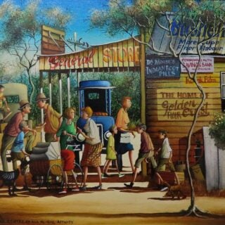 morpeth art gallery, hunter valley, newcastle, nsw, investment art, fine art, original, artwork, collector, investment, artist, oil, watercolour, story teller, australiana, yesteryear, the old days, icon, yarns, australian iconic artist, board, stretched canvas, watercolours, watercolour, cobb and co, bradford exchange, waltzing matilda, gold medallions, gold coins, limited edition, the centre of all rural activity, retrospective, australian art gifts, nostalgia
