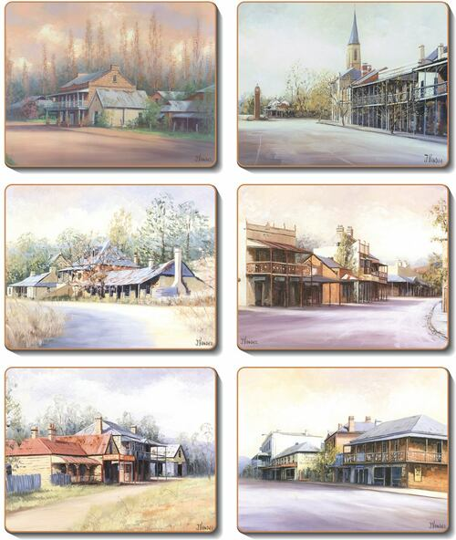 Country Towns Set 6 Coasters -