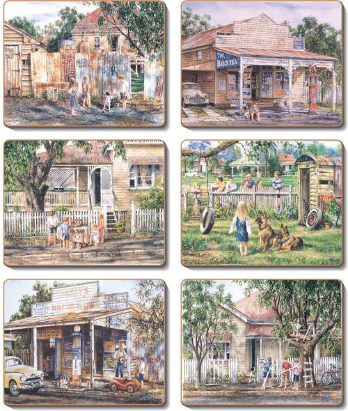 Nostalgia Set 6 Placemats -
