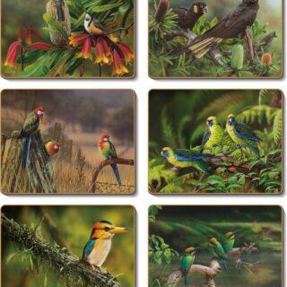 morpeth art gallery hunter region james hough australian native birds coaster placemat cinnamon hale imports