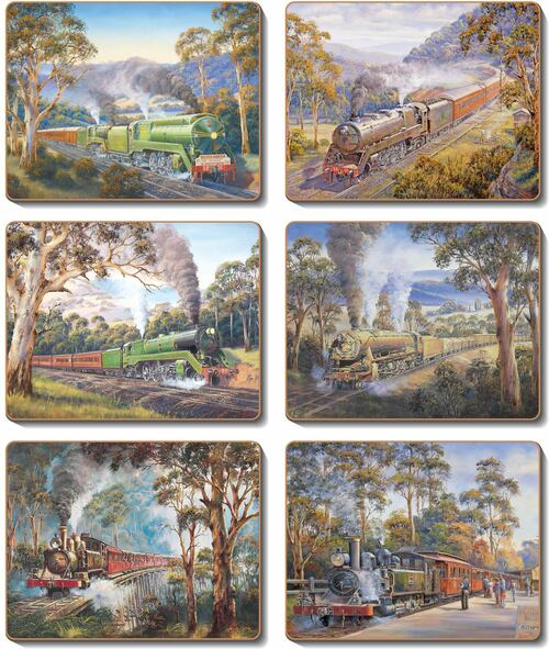 morpeth gallery hunter valley john bradley train steam nostalgia placemat coaster hale cinnamon imports