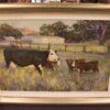 morpeth gallery art john mccartin 120cm x 80cm the triplets cows country
