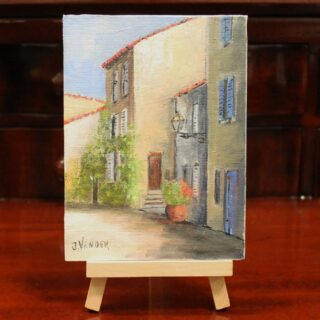 morpeth art gallery hunter valley john vander miniature painting with wooden easel display 13.5cm x 9.5cm narrow lane of provence franceaustralian gift easy post