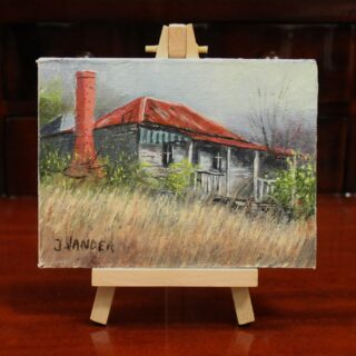 morpeth art gallery hunter valley john vander miniature painting with wooden easel display old timer 13.5cm x 9.5cm australian gift easy post