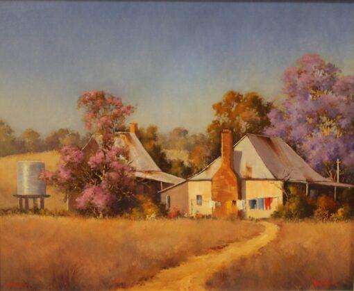 morpeth art gallery werner filipich sofala 55.5cm x 45.5cm country scene homestead