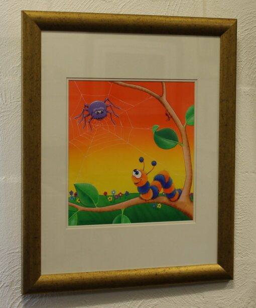morpeth art gallery hunter valley natalie jane parker curly caterpillar counts to eight spider legs original painting childrens book image