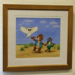 morpeth art gallery hunter valley natalie jane parker willow wombat treasure hunt platypus owl barn snowy original painting childrens book image