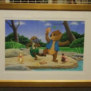 morpeth art gallery hunter valley natalie jane parker willow wombat treasure hunt pauley platypus original painting childrens book image