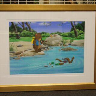 morpeth art gallery hunter valley natalie jane parker willow wombat pauley platypus treasure hunt original painting childrens book image