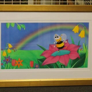 morpeth art gallery hunter valley natalie jane parker curly caterpillar bumble bees original painting childrens book image